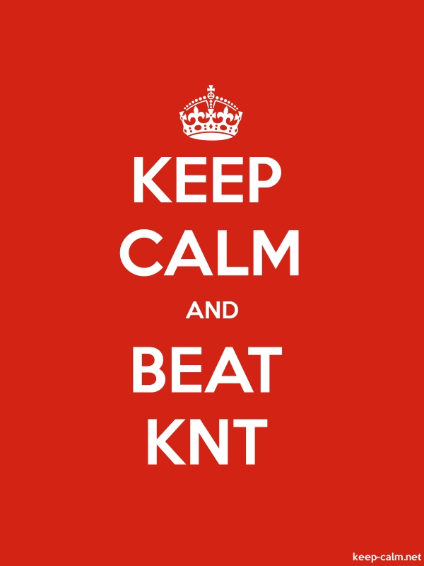 KEEP CALM AND BEAT KNT - white/red - Default (600x800)