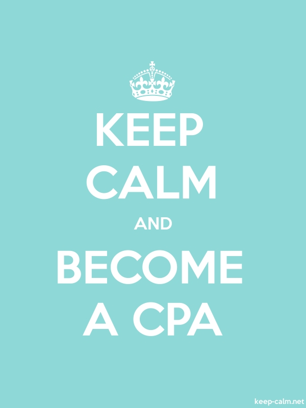 KEEP CALM AND BECOME A CPA - white/lightblue - Default (600x800)