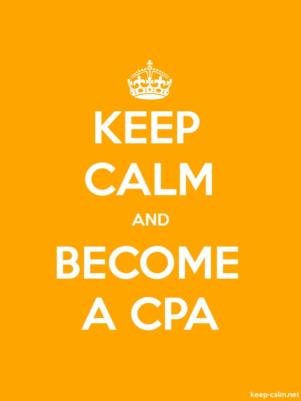 KEEP CALM AND BECOME A CPA - white/orange - Default (600x800)