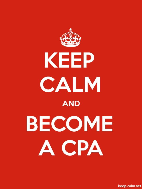 KEEP CALM AND BECOME A CPA - white/red - Default (600x800)