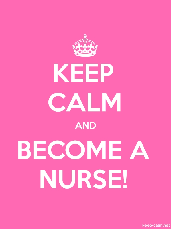 KEEP CALM AND BECOME A NURSE! - white/pink - Default (600x800)