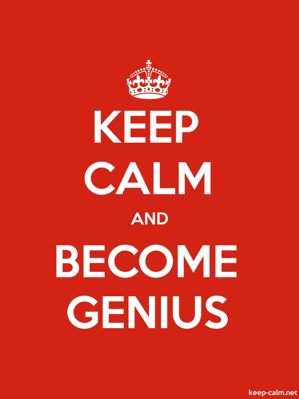 KEEP CALM AND BECOME GENIUS - white/red - Default (600x800)