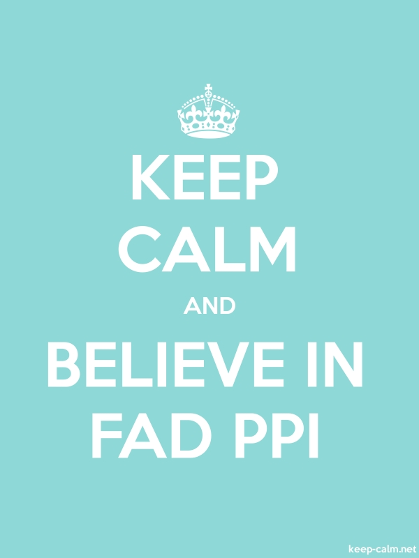 KEEP CALM AND BELIEVE IN FAD PPI - white/lightblue - Default (600x800)
