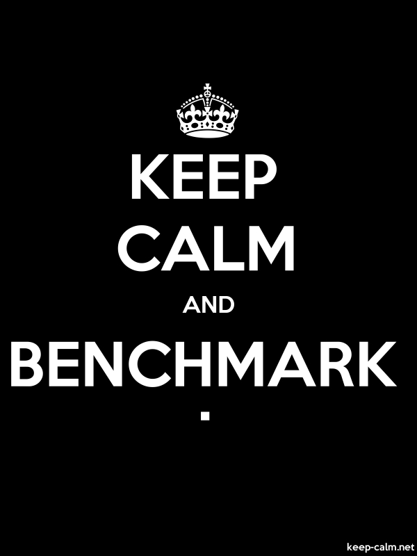 KEEP CALM AND BENCHMARK . - white/black - Default (600x800)
