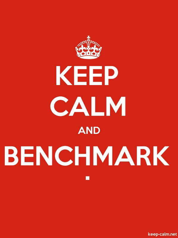 KEEP CALM AND BENCHMARK . - white/red - Default (600x800)
