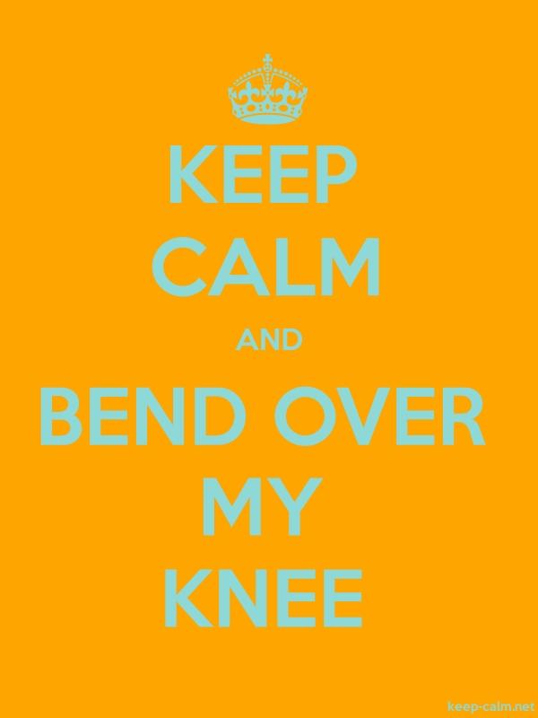 KEEP CALM AND BEND OVER MY KNEE - lightblue/orange - Default (600x800)