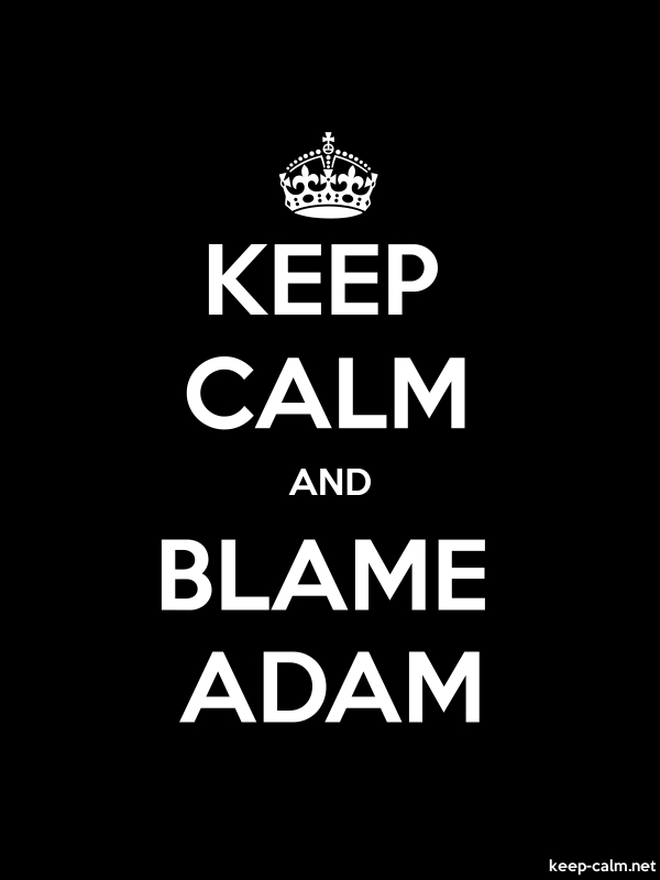 KEEP CALM AND BLAME ADAM - white/black - Default (600x800)