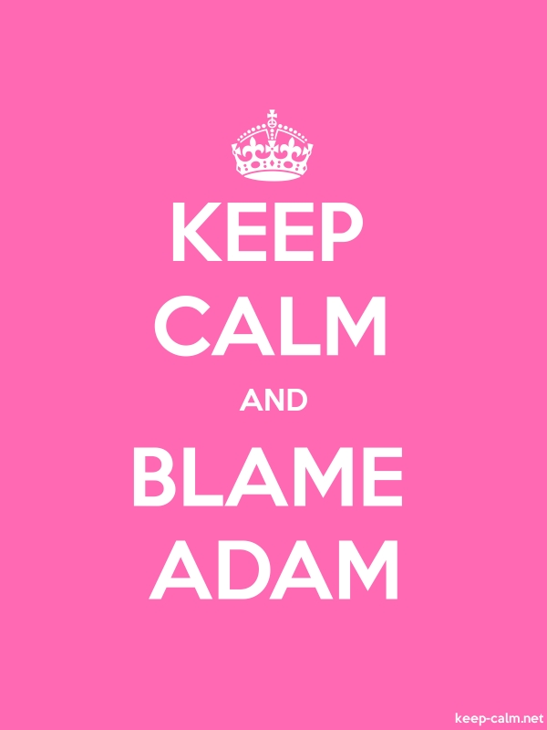 KEEP CALM AND BLAME ADAM - white/pink - Default (600x800)