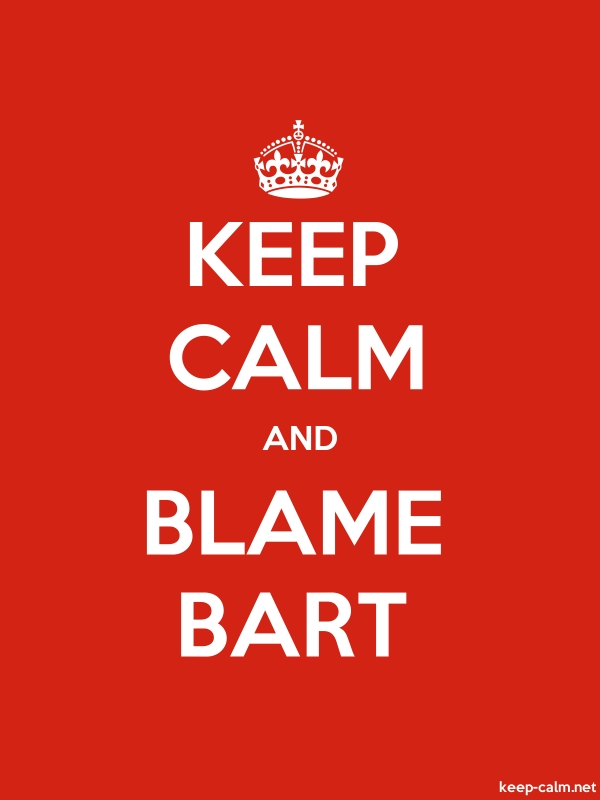 KEEP CALM AND BLAME BART - white/red - Default (600x800)