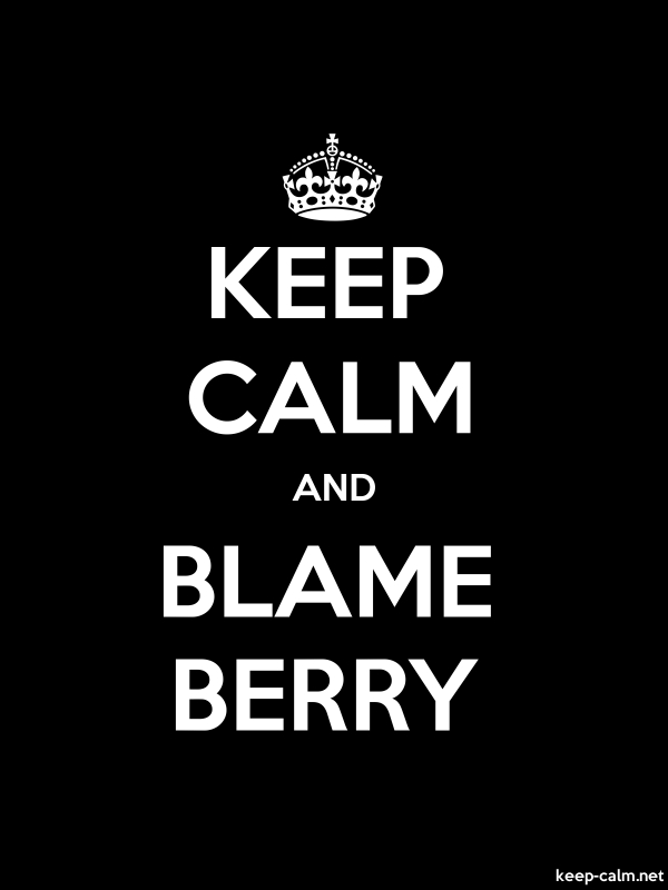KEEP CALM AND BLAME BERRY - white/black - Default (600x800)