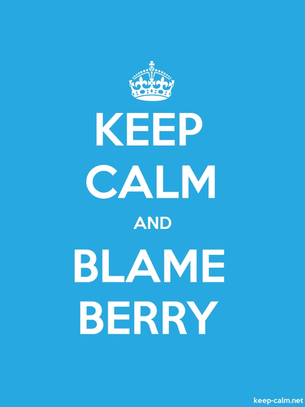 KEEP CALM AND BLAME BERRY - white/blue - Default (600x800)