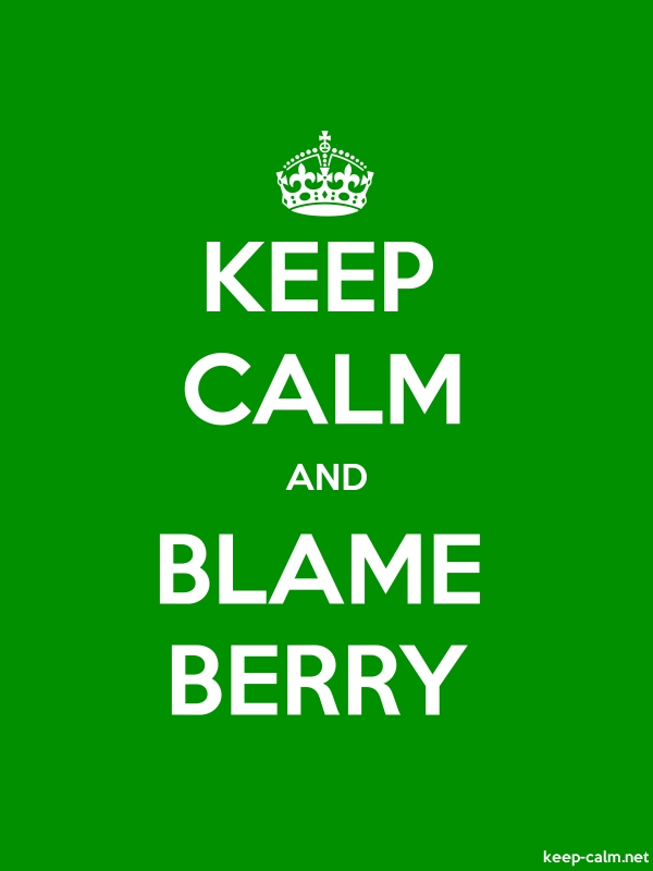 KEEP CALM AND BLAME BERRY - white/green - Default (600x800)