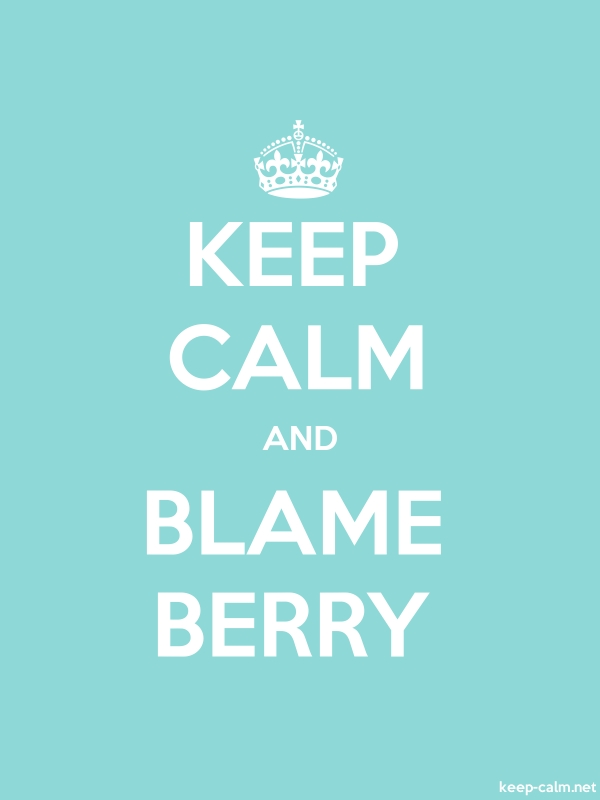 KEEP CALM AND BLAME BERRY - white/lightblue - Default (600x800)