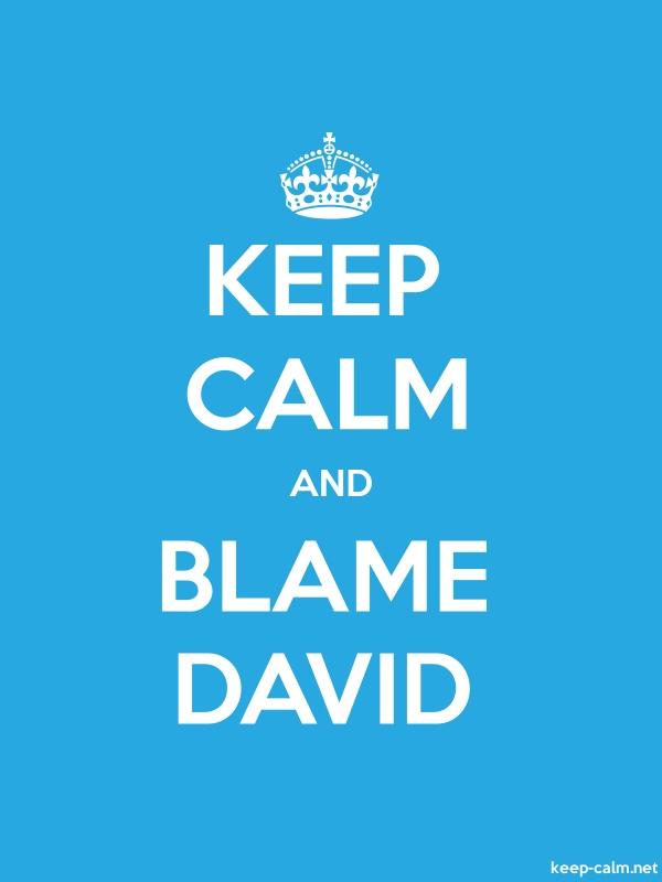 KEEP CALM AND BLAME DAVID - white/blue - Default (600x800)
