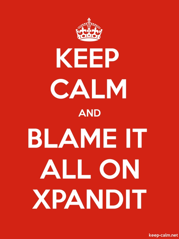 KEEP CALM AND BLAME IT ALL ON XPANDIT - white/red - Default (600x800)