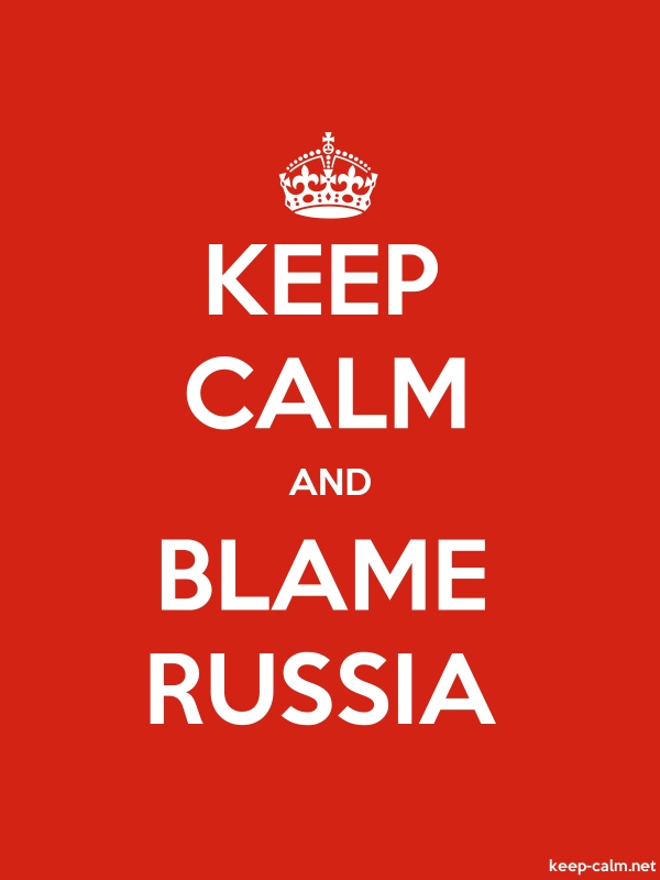 KEEP CALM AND BLAME RUSSIA - white/red - Default (600x800)