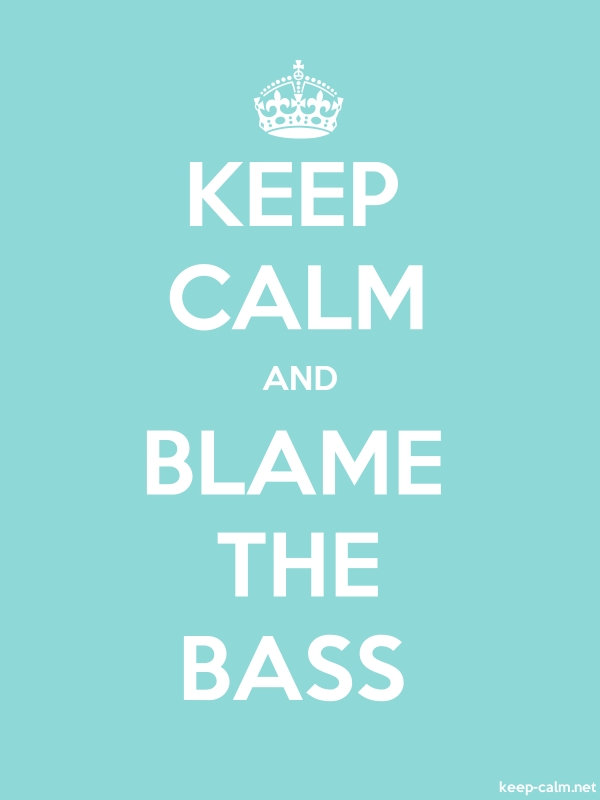 KEEP CALM AND BLAME THE BASS - white/lightblue - Default (600x800)