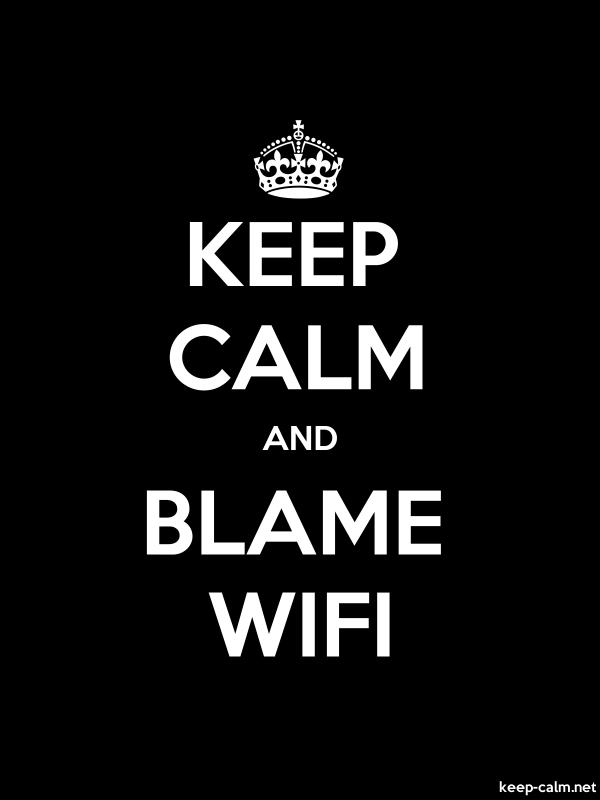 KEEP CALM AND BLAME WIFI - white/black - Default (600x800)