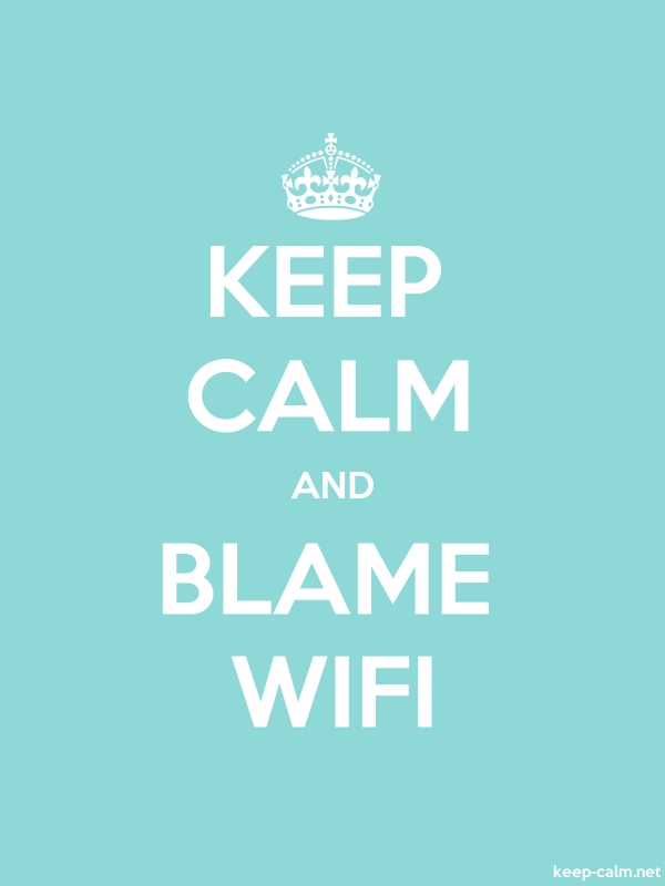 KEEP CALM AND BLAME WIFI - white/lightblue - Default (600x800)