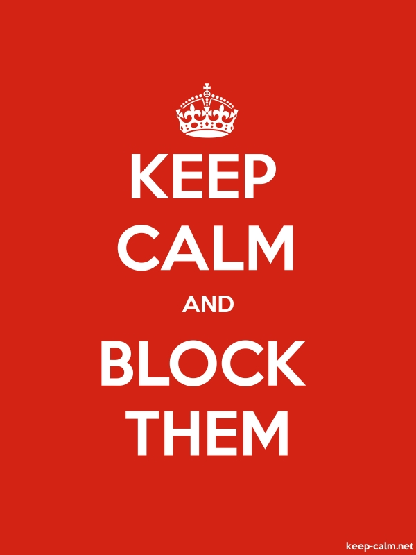 KEEP CALM AND BLOCK THEM - white/red - Default (600x800)