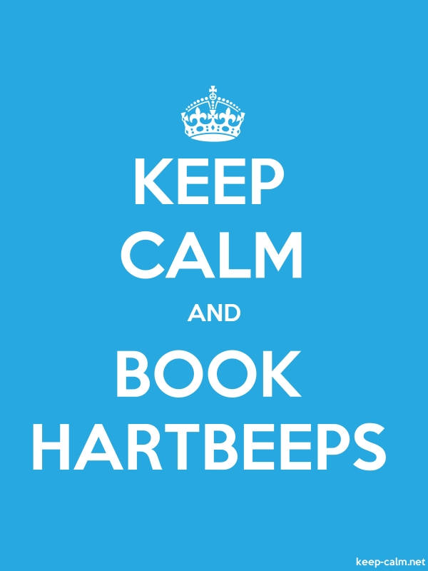 KEEP CALM AND BOOK HARTBEEPS - white/blue - Default (600x800)