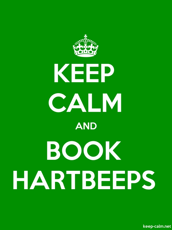 KEEP CALM AND BOOK HARTBEEPS - white/green - Default (600x800)