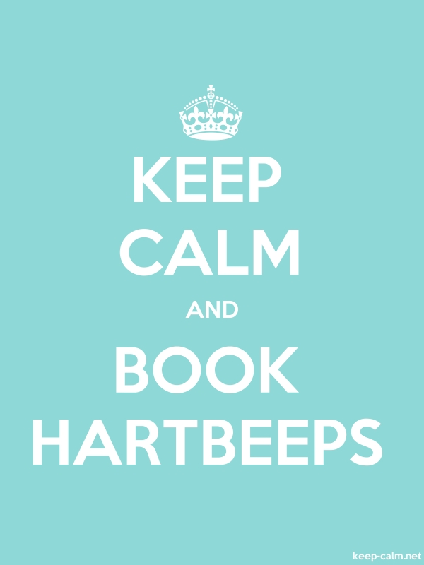 KEEP CALM AND BOOK HARTBEEPS - white/lightblue - Default (600x800)