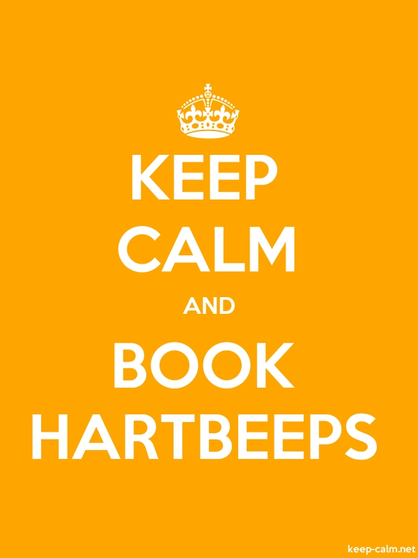 KEEP CALM AND BOOK HARTBEEPS - white/orange - Default (600x800)