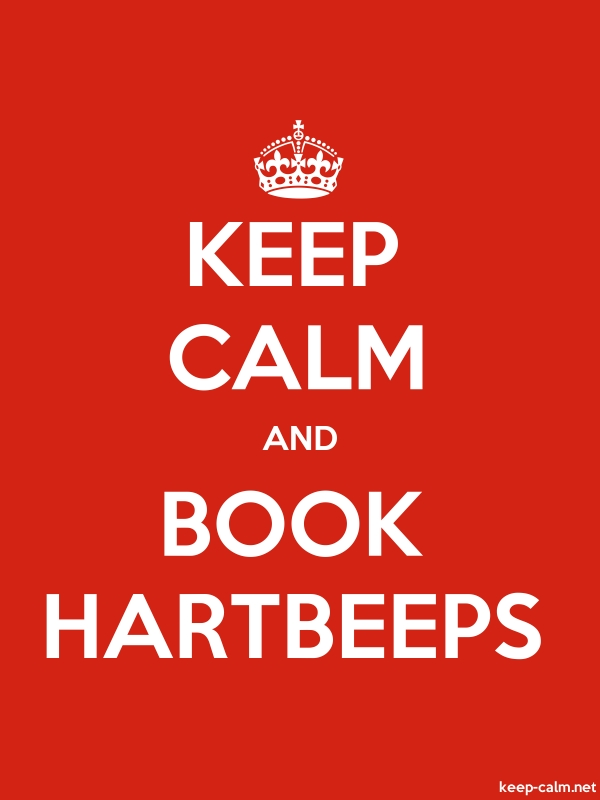KEEP CALM AND BOOK HARTBEEPS - white/red - Default (600x800)