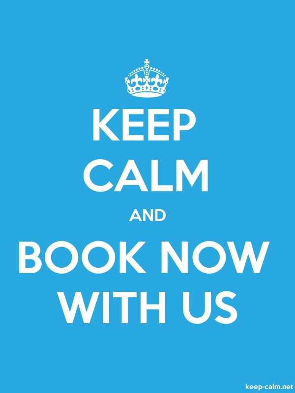KEEP CALM AND BOOK NOW WITH US - white/blue - Default (600x800)