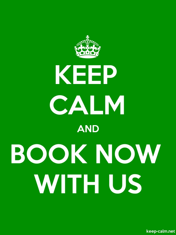 KEEP CALM AND BOOK NOW WITH US - white/green - Default (600x800)