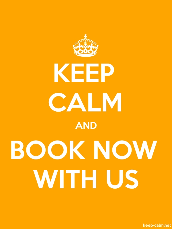 KEEP CALM AND BOOK NOW WITH US - white/orange - Default (600x800)