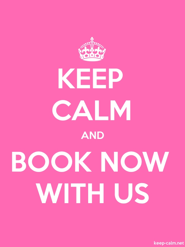 KEEP CALM AND BOOK NOW WITH US - white/pink - Default (600x800)