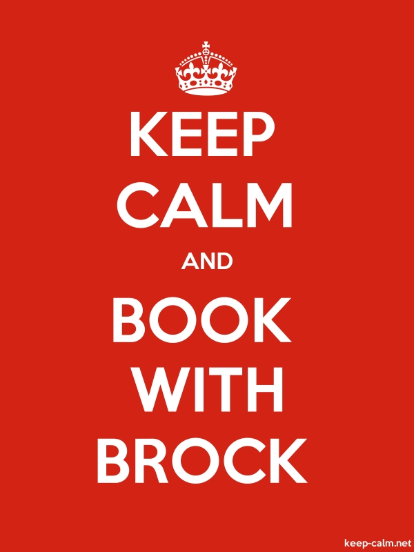 KEEP CALM AND BOOK WITH BROCK - white/red - Default (600x800)