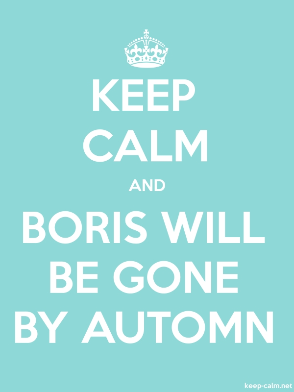 KEEP CALM AND BORIS WILL BE GONE BY AUTOMN - white/lightblue - Default (600x800)