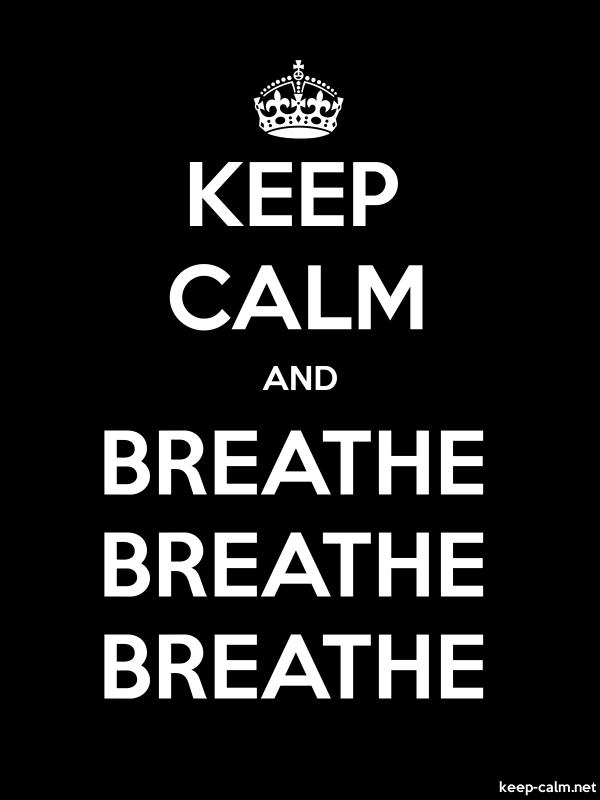KEEP CALM AND BREATHE BREATHE BREATHE - white/black - Default (600x800)