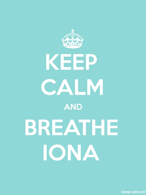 KEEP CALM AND BREATHE IONA - white/lightblue - Default (600x800)