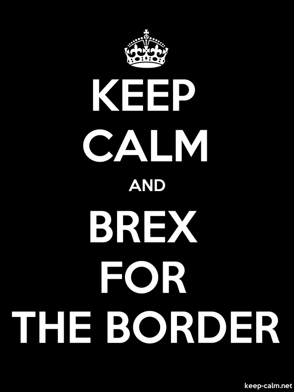 KEEP CALM AND BREX FOR THE BORDER - white/black - Default (600x800)