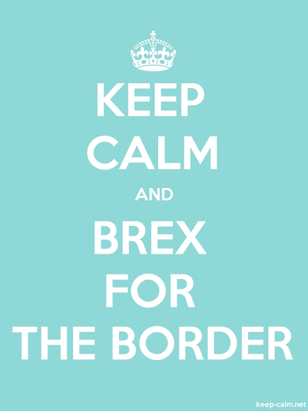 KEEP CALM AND BREX FOR THE BORDER - white/lightblue - Default (600x800)