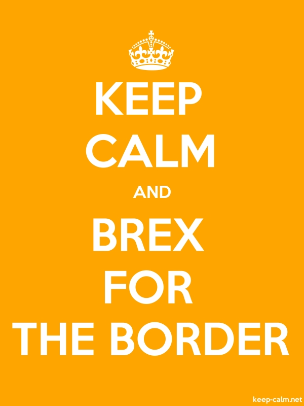 KEEP CALM AND BREX FOR THE BORDER - white/orange - Default (600x800)