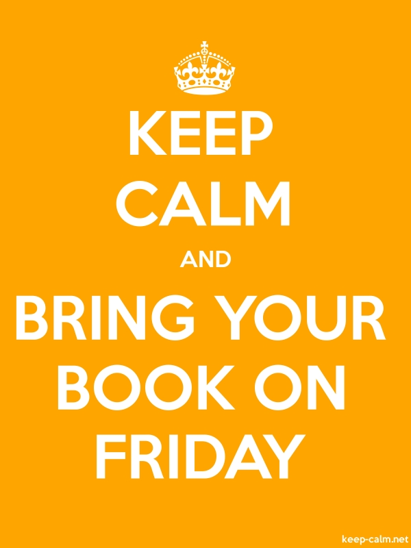 KEEP CALM AND BRING YOUR BOOK ON FRIDAY - white/orange - Default (600x800)