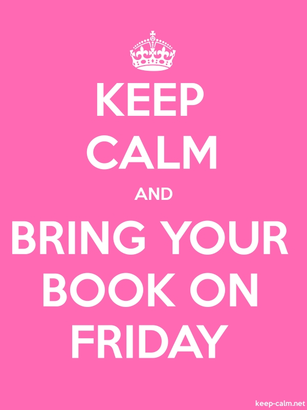 KEEP CALM AND BRING YOUR BOOK ON FRIDAY - white/pink - Default (600x800)