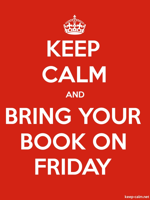 KEEP CALM AND BRING YOUR BOOK ON FRIDAY - white/red - Default (600x800)
