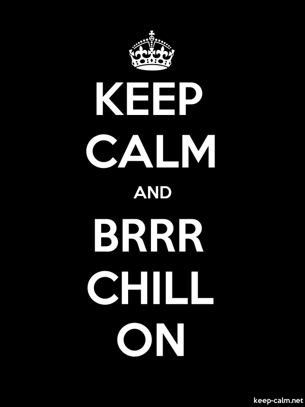 KEEP CALM AND BRRR CHILL ON - white/black - Default (600x800)