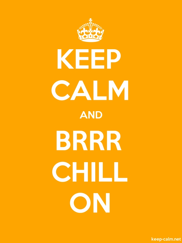 KEEP CALM AND BRRR CHILL ON - white/orange - Default (600x800)