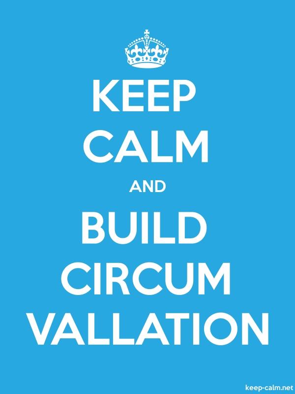 KEEP CALM AND BUILD CIRCUM VALLATION - white/blue - Default (600x800)
