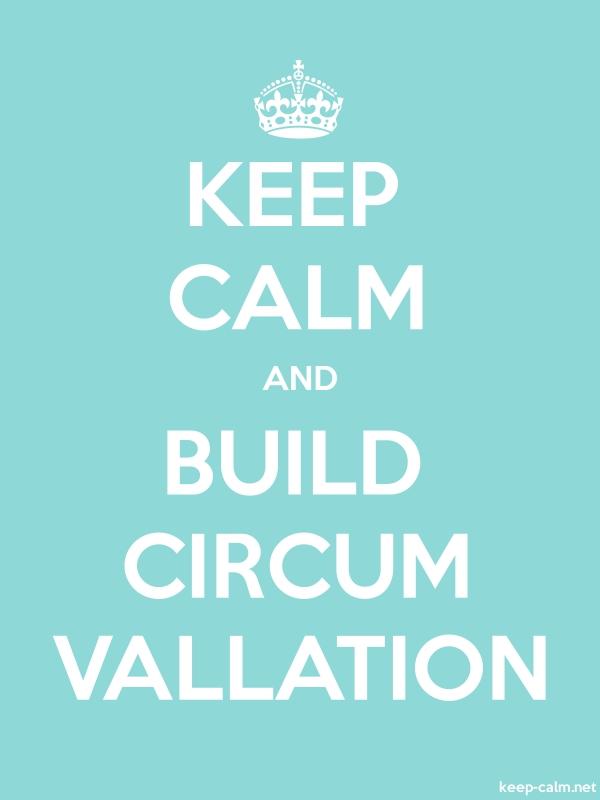KEEP CALM AND BUILD CIRCUM VALLATION - white/lightblue - Default (600x800)
