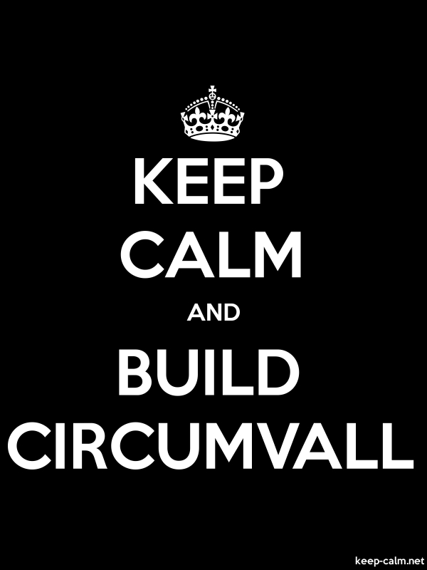 KEEP CALM AND BUILD CIRCUMVALL - white/black - Default (600x800)