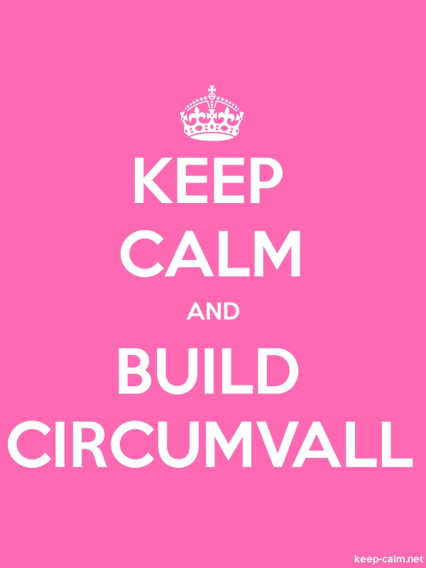 KEEP CALM AND BUILD CIRCUMVALL - white/pink - Default (600x800)