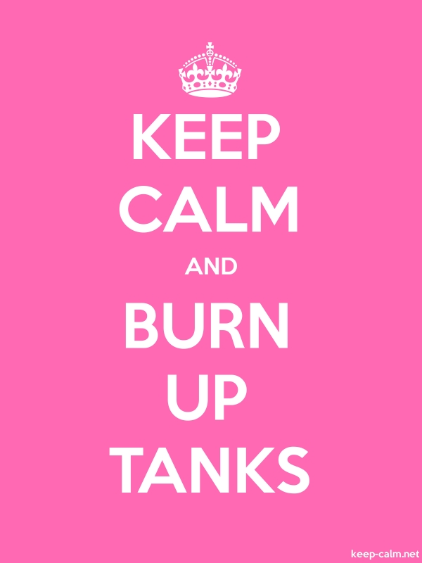 KEEP CALM AND BURN UP TANKS - white/pink - Default (600x800)